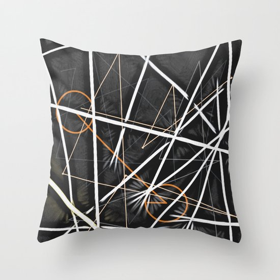 geometric interactions Throw Pillow