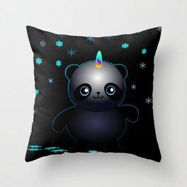 Glow in the Dark Pandacorn Throw Pillow