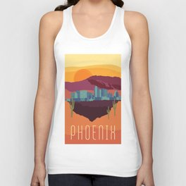 City Series - #Phoenix #Arizona #Travel #Poster Unisex Tank Top