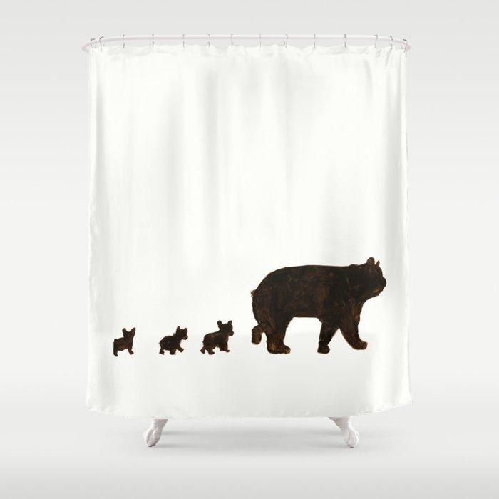 Hello Bears Shower Curtain By Swimmingpool