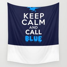 Keep Calm and Call Blue | Jurassic Raptor Dinosaur Wall Tapestry