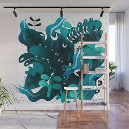 Night Jungle Pattern Wall Mural