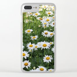Daisy Garden on Brightwood Clear iPhone Case