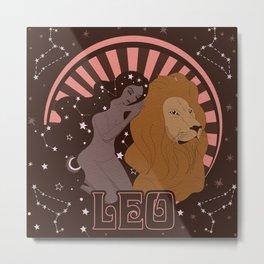 Leo, Astrology, Zodiac Sign Metal Print