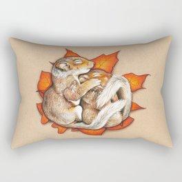 Autumn Squirrels Rectangular Pillow