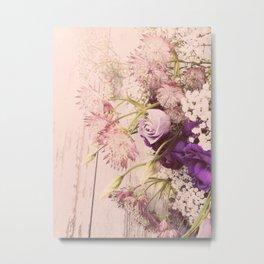 Gorgeous Vintage Floral Metal Print