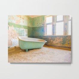 Antique Bathtub in Desert Americana Decor Metal Print
