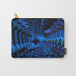 Dark Abstract Pattern Carry-All Pouch