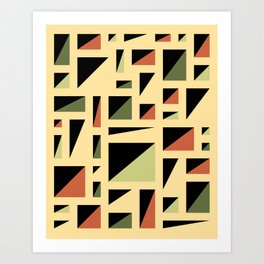Half Triangle Lemon Art Print