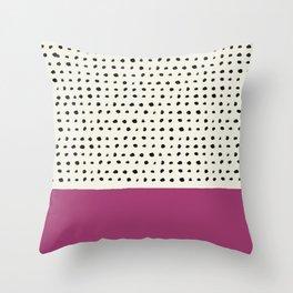 Raspberry x Dots Throw Pillow