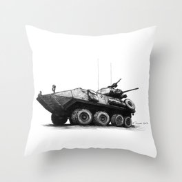 LAV-25 Throw Pillow