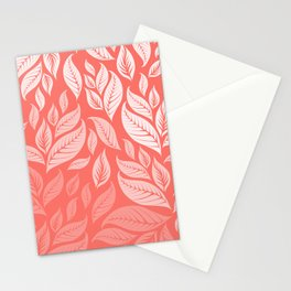 LIVING CORAL LEAVES 2 Stationery Cards