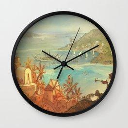 Provincial Polynesia Wall Clock