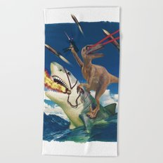 Crazy Raptor Beach Towel
