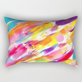 Fruity Pebbles Abstract Rectangular Pillow