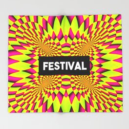 festival tripping design Throw Blanket