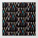 Heroes Scattered Pattern Black by notsniw