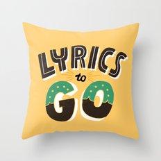 Lyrics to Go Throw Pillow