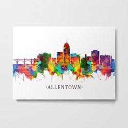Allentown Pennsylvania Skyline Metal Print
