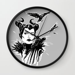 Maleficent Fan Art Angelina Jolie from Sleeping Beauty Wall Clock