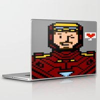 tony stark Laptop & iPad Skins featuring tony stark by saltyking