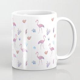Aquatic & Flamingo Watercolour Pattern Coffee Mug