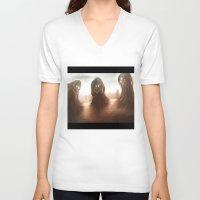 nightmare V-neck T-shirts featuring Nightmare by Teodor Borisov