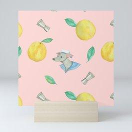 Salty Dog _pink Mini Art Print
