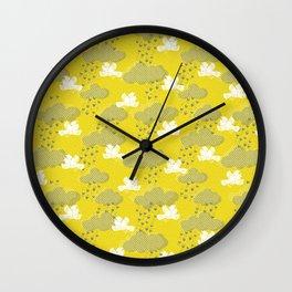 Rain Birds - Sulpher Wall Clock