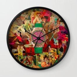 Pin-up Time Wall Clock