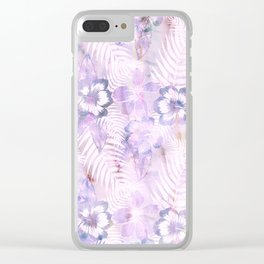 Hula Hibiscus Washout Clear iPhone Case