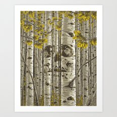 Aspens - Yellow Art Print