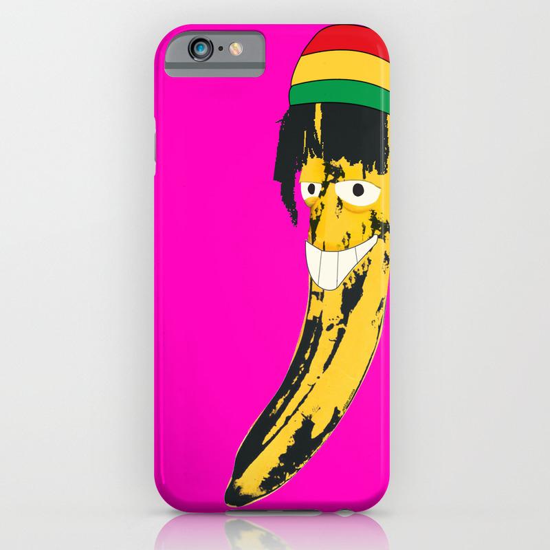 Rasta Banana Andy Warhol Inspired Stencil Iphone Case