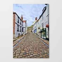 Church Lane Whitby Canvas Print