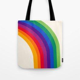 Groovy - rainbow 70s 1970s style retro throwback minimal happy hippie art decor Tote Bag