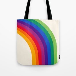 Groovy - rainbow 70s 1970s style retro throwback minimal happy hippie art decor Tote Bag