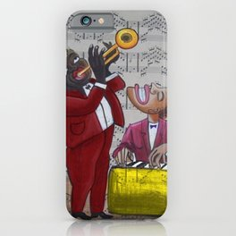 African American 'Apollo Theater Sheet Music Portrait No. 6' Hot Jazz by Miguel Covarrubias iPhone Case
