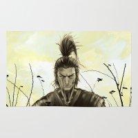 samurai Area & Throw Rugs featuring Samurai by Tony Vazquez
