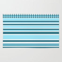 waves and stripes Rug