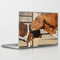 cows Laptop & iPad Skins featuring Cows by Ana Francisconi