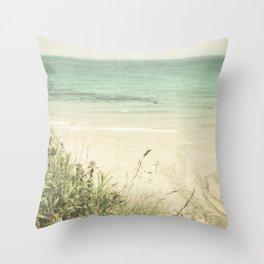 Sand and sea Throw Pillow