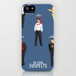 The Usual Suspects, Kevin Spacey, minimalist movie poster, Gabriel Byrne, Singer, Benicio Del Toro, iPhone Case