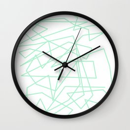 Minty Scwiggle Wall Clock