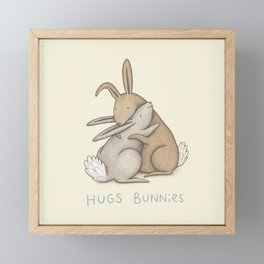 Hugs Bunnies Framed Mini Art Print