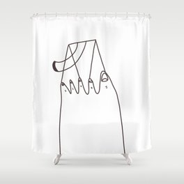 TOE SWING Shower Curtain