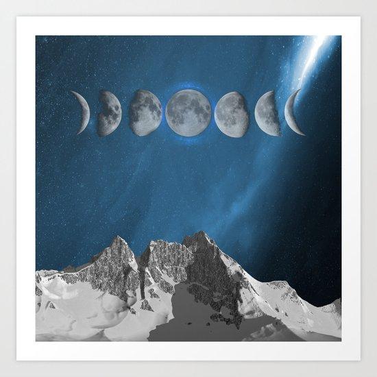 space in moon Art Print