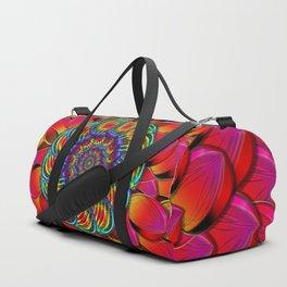 Dahlia Flower Endless Eye Abstract Duffle Bag