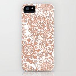 Rose Gold Mandala Pattern iPhone Case