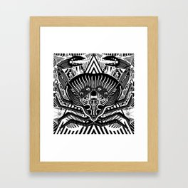 The Crab Framed Art Print