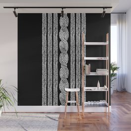 Cable Stripe Black Wall Mural